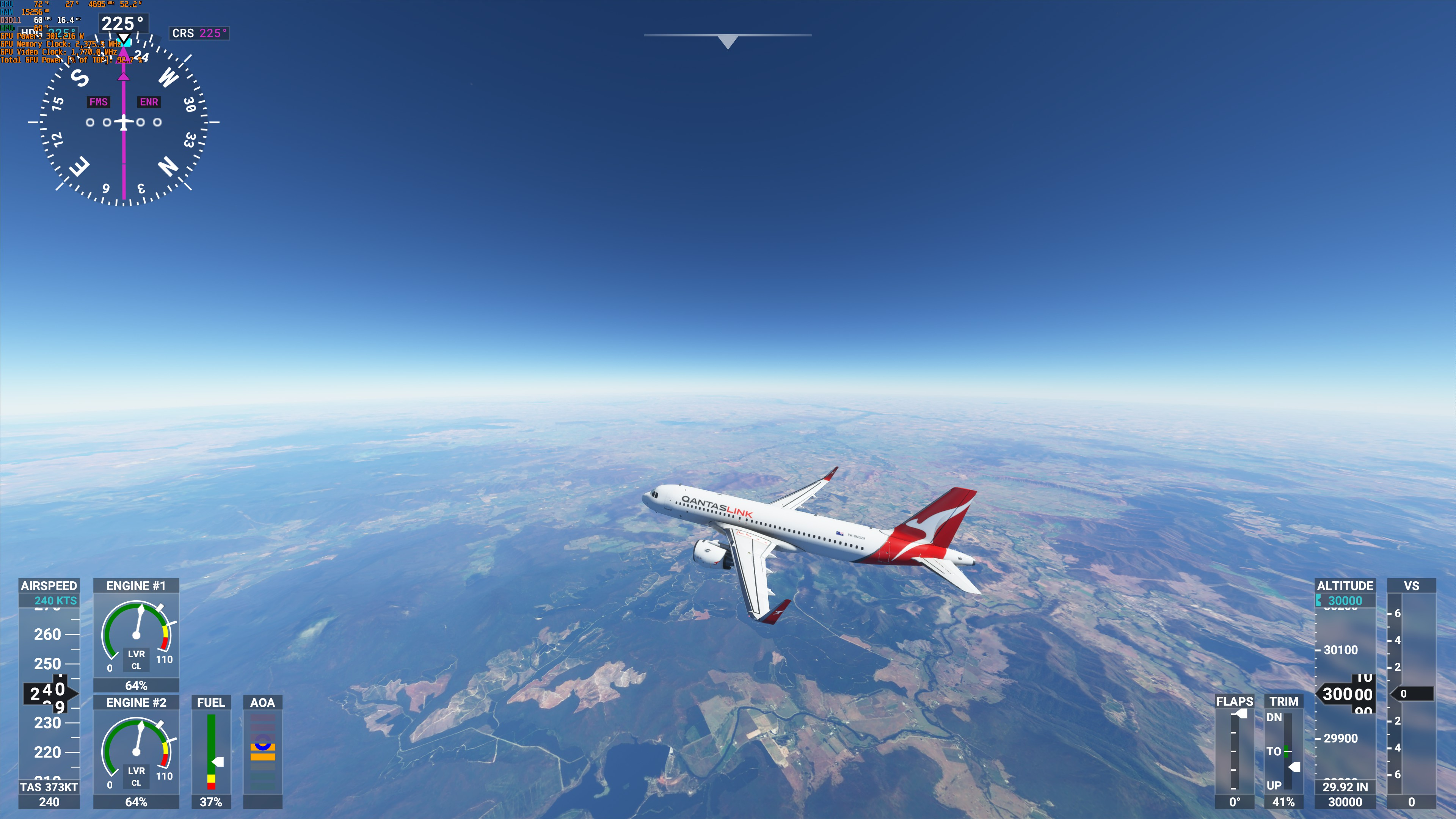 Sydney to Melbourne - Curvature of our Earth